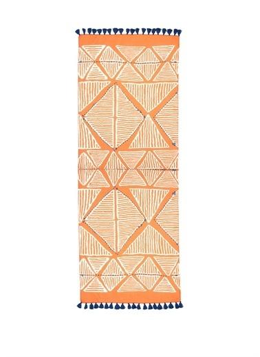 Beymen Club 101524920 Üçgen Desenli Püsküllü Kadın Şal Oranj